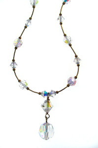 Magical weddings gift chrystal bead necklace